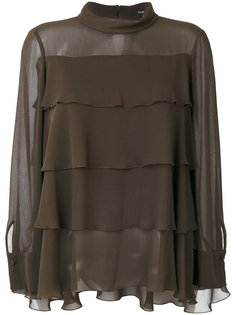 полупрозрачная ярусная блузка  Luisa Cerano