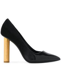 туфли-лодочки на каблуке в форме цветка Salvatore Ferragamo
