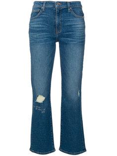 состаренные укороченные джинсы  Iro