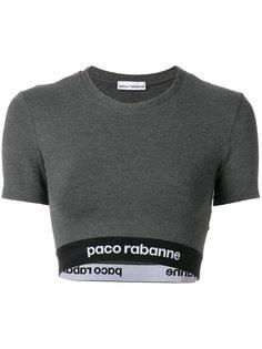 укороченный топ с логотипом на подоле Paco Rabanne