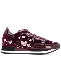 floral embroidered trainers Philippe Model