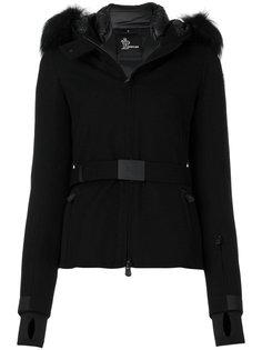 дутая куртка с капюшоном и поясом  Moncler Grenoble