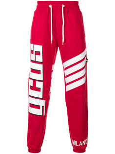 спортивные брюки с полосками и логотипом Gcds