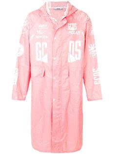 пальто с капюшоном с принтом Gcds