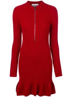 платье в рубчик на молнии  Moschino