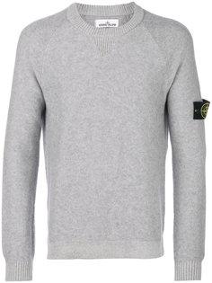 свитер с круглым вырезом с заплаткой с логотипом Stone Island