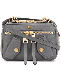 сумка на плечо с тиснением логотипа Moschino