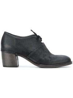 туфли на шнуровке на каблуке Roberto Del Carlo