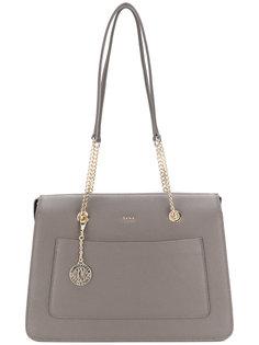 сумка-тоут с цепочной вставкой DKNY