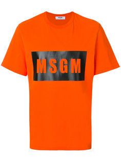 футболка с принтом с логотипом MSGM