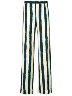 брюки-палаццо в полоску  Alberta Ferretti