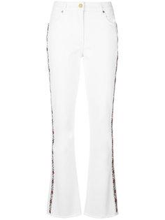 джинсы клеш с отделкой сбоку  Etro