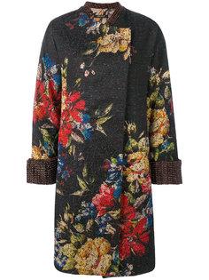 пальто с цветочным рисунком Ermanno Gallamini