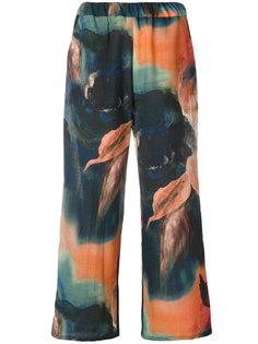 брюки с принтом  Ermanno Gallamini