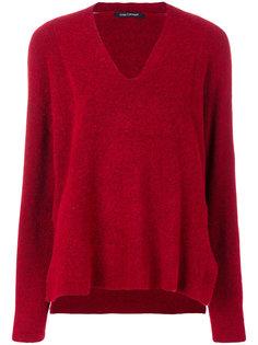 свитер с глубоким V-образным вырезом  Luisa Cerano