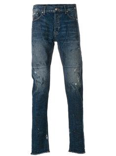 джинсы с выцветшими деталями Mr. Completely