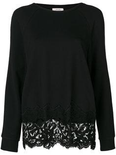 пуловер с фигурной кружевной вставкой  Dorothee Schumacher