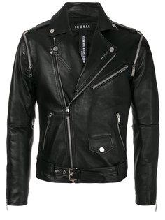 байкерская куртка с рукавами на молниях Icosae