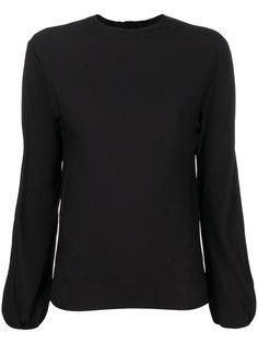 блузка с вырезом и завязкой на спине Helmut Lang