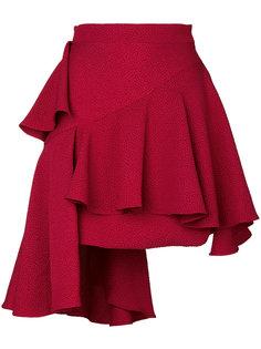 асимметричная юбка с оборками Edeline Lee