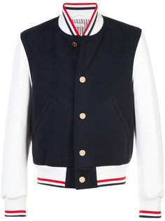 куртка-бомбер с контрастными рукавами Thom Browne