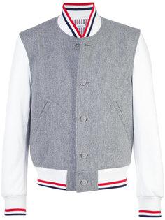 куртка-бомбер с контрастными полосками Thom Browne