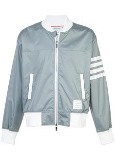 куртка-бомбер с полосками на рукаве Thom Browne