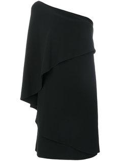 ярусное платье на одно плечо  Givenchy