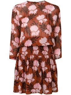 платье шифт с цветочным принтом  Ganni