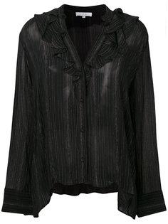 блузка с золотистыми полосками металлик  Iro