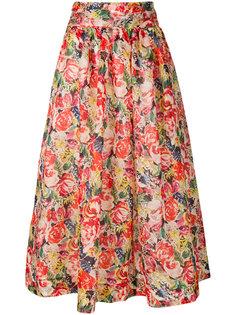 юбка миди с цветочным принтом  Ganni