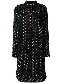 платье-рубашка в горошек  Ganni