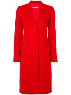 приталенное однобортное пальто  Givenchy