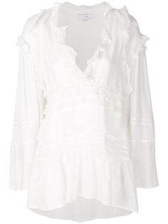 блузка с ярусной оборкой  Iro