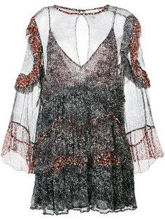 полупрозрачное платье с завязкой  Iro