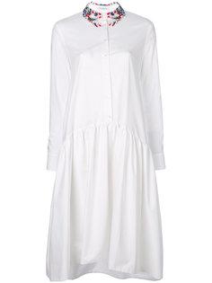 платье миди с вышивкой Vivetta