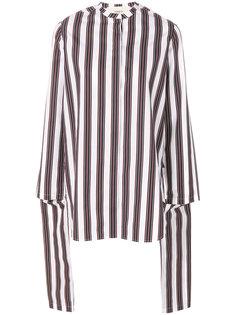 блузка в полоску с драпировкой Ports 1961
