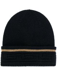вязаная шапка с узором Greek Key Versace