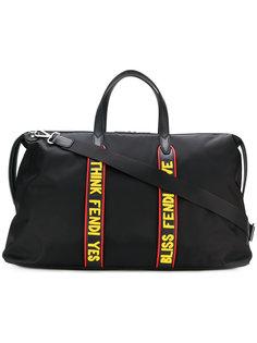 дорожная сумка со слоганами Fendi