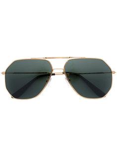солнцезащитные очки-авиаторы геометрической формы Oliver Goldsmith