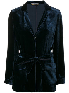 бархатный пиджак Alberta Ferretti