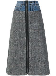 А-образная юбка с елочку Maison Margiela