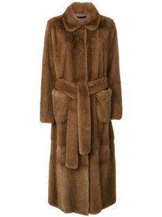 пальто с поясом  Manzoni 24