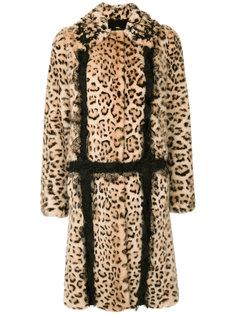 пальто с леопардовым узором  Giambattista Valli