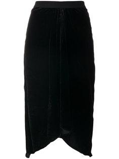 асимметричная бархатная юбка миди Tursanne Isabel Marant