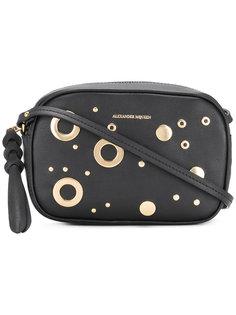 прямоугольная мини-сумка на плечо с люверсами и заклепками Alexander McQueen