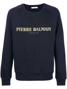 толстовка с заплаткой с логотипом Pierre Balmain