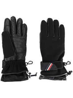 padded logo plaque gloves Moncler Grenoble