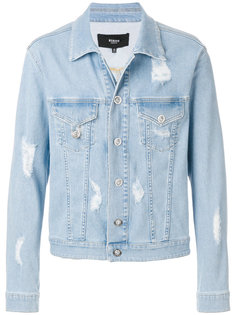 джинсовая куртка с протертостями Versus