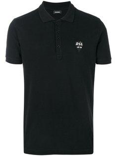футболка-поло с вышивкой логотипа Diesel